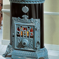 Retro Kitchen Stoves Backsplash Tile Designs Godin Cast Iron Gas Stove - Petit Small Oval 7kw