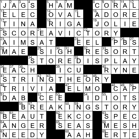 LA Times Crossword Answers 23 Aug 2017, Wednesday
