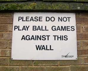 no wall ball sign