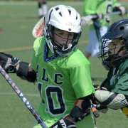youth lacrosse dodge from X push into your defender