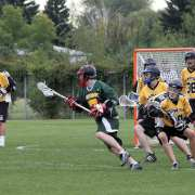look away from the ball lacrosse defense