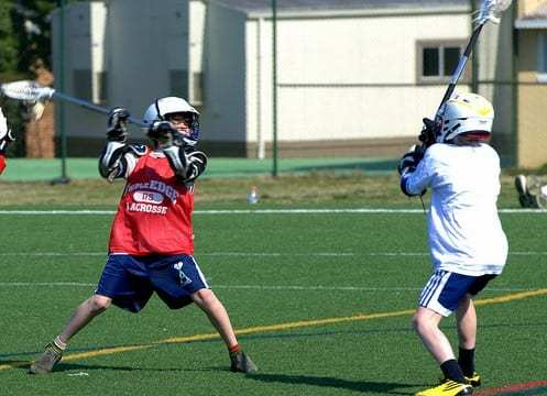 youth lacrosse shooting practice drill
