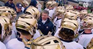 5 on 4 notre dame lacrosse pregam warm up practice drill