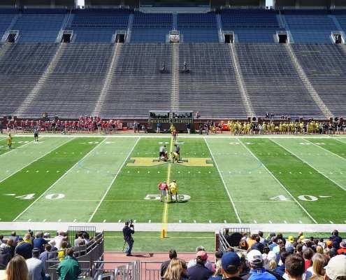 michigan ohio state lacrosse face off