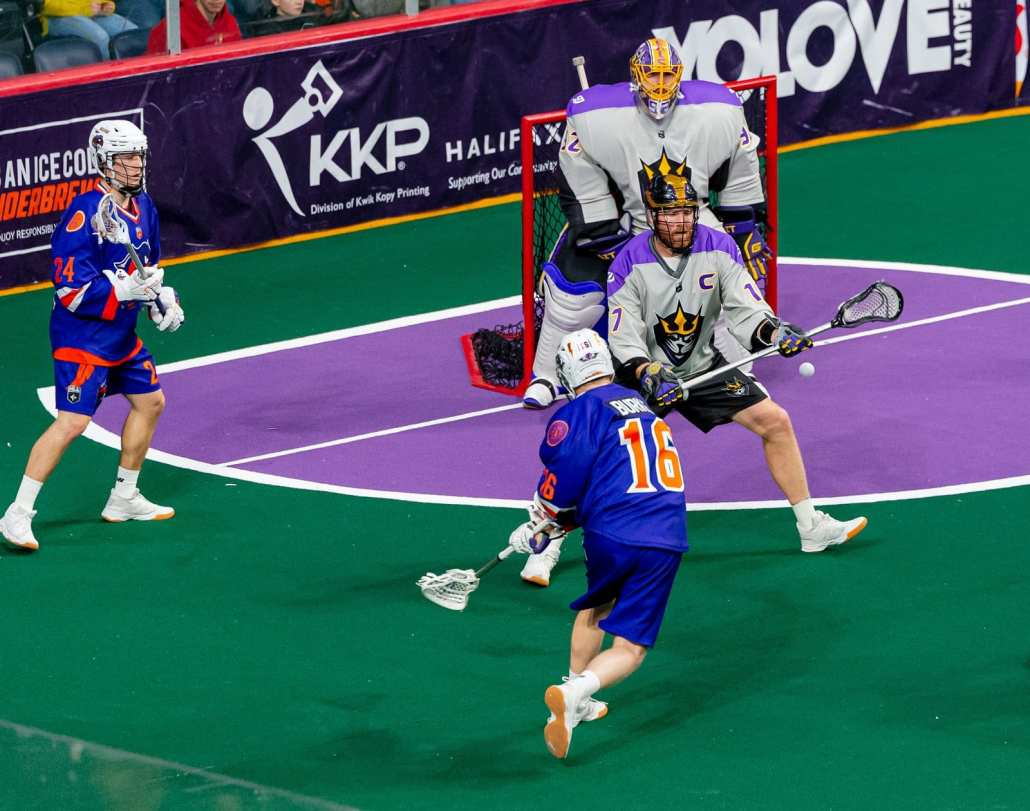 box lacrosse practice drill 2 on 1 continuous