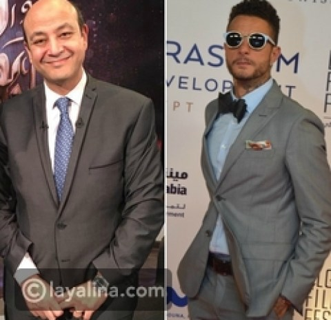 أحمد الفيشاوي وعمرو أديب