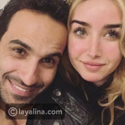 Here Zahed denies the issue of her disagreement with her fiancé in this romantic photo