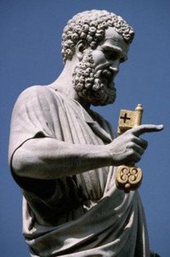 Statue of Saint Peter by Giuseppe de Fabris