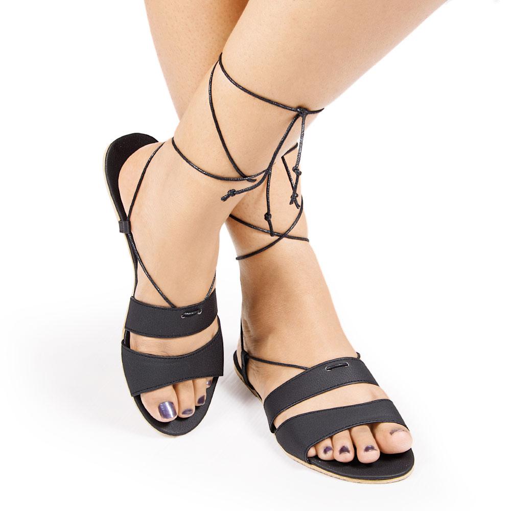 Laydeez Double Strap Tieup in Black
