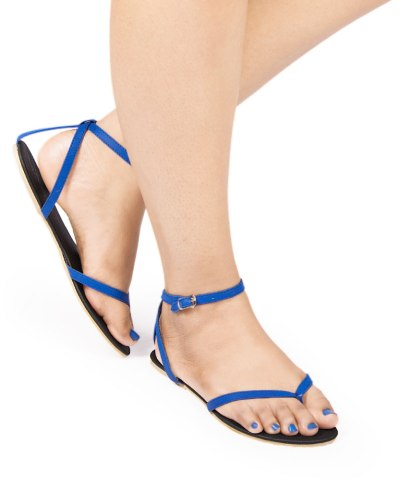 Laydeez Ankle Strap Sandals In Blue