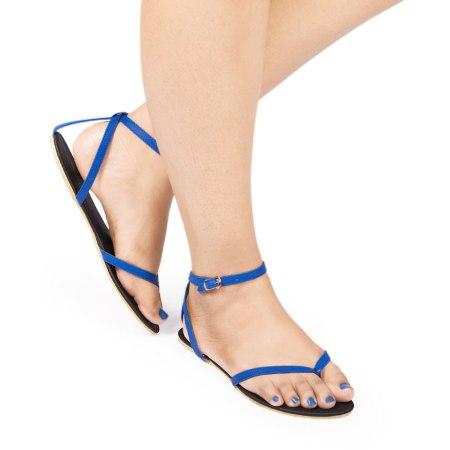 Laydeez Ankle Strap Sandal (Blue+Black)