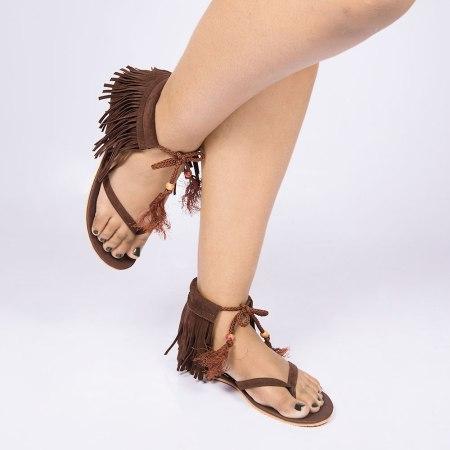 Laydeez Brown beauty Tassel Sandal