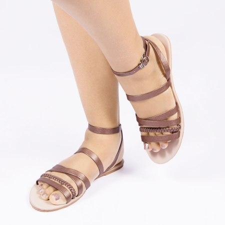 Laydeez Bronze Baided Sandal