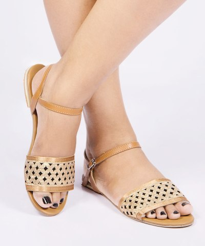 Laydeez Hollow Detail Open Toe Sandals