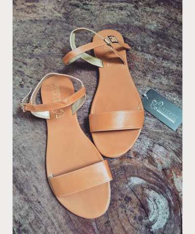 Tan Open Toes Sandals