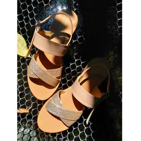Christeena Sandals in Champagne Gold
