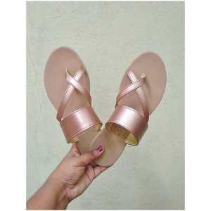 Laydeez Linea sandals in Rose gold