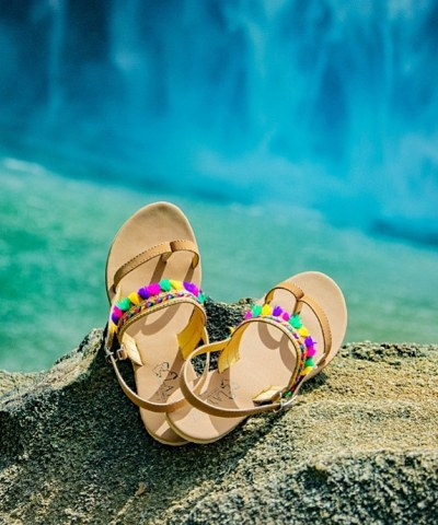 Laydeez Multi Tassel Toe Ring Sandals