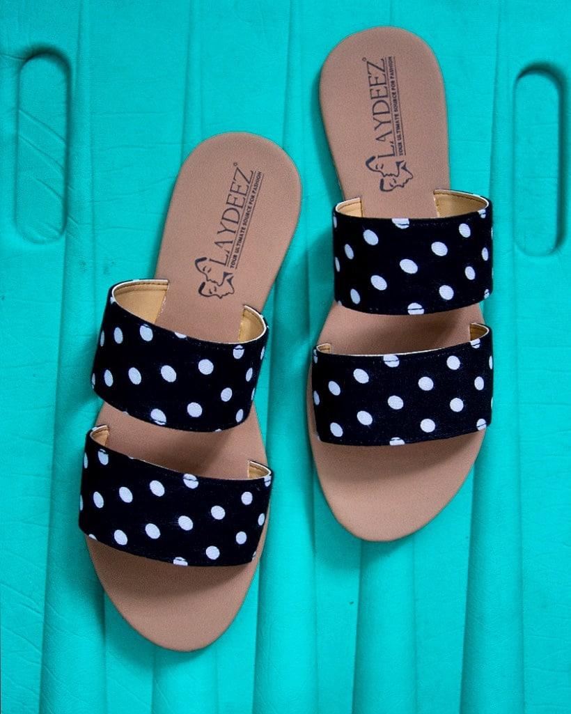 Laydeez Polka Double Strap Sandals