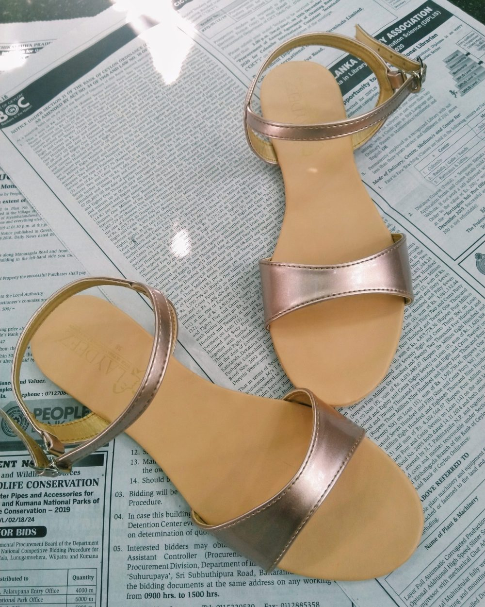 LAYDEEZ Curvy Open Toe Sandals in Rose Gold
