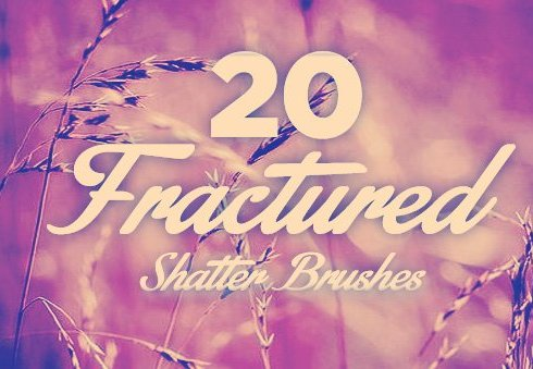 Fractured Shatter Photoshop Brushes