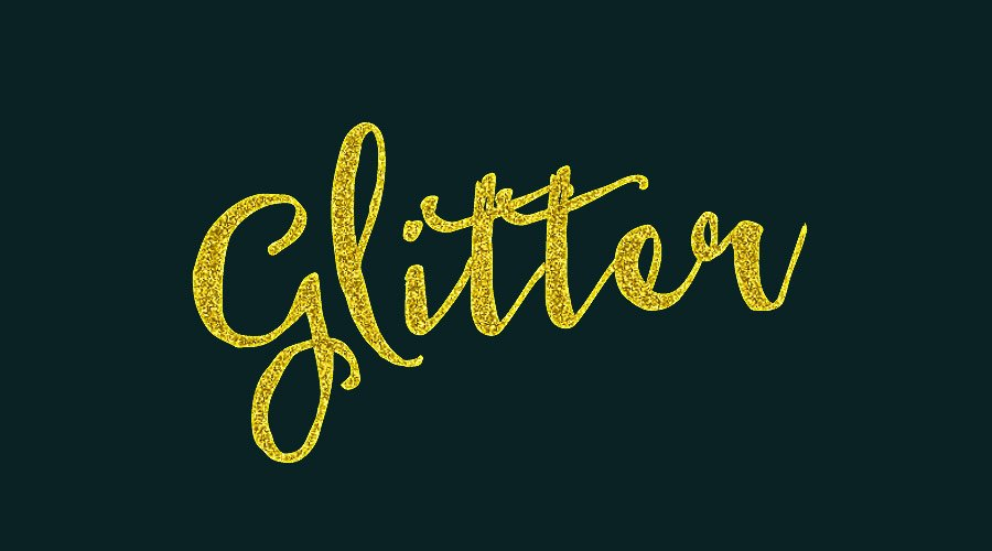 Glitter Text Effect Photoshop