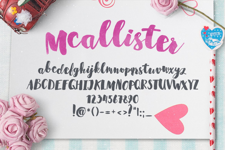 mcallister Brush Script Font