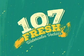 107 Fresh Watercolor Vectors by Layerform Design Co