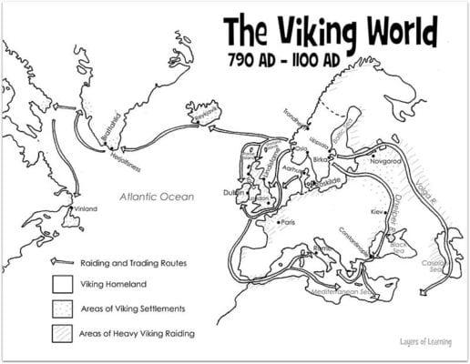 Blank Map Vikings