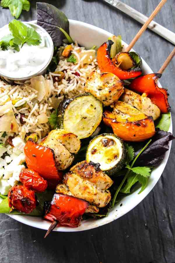 Oven Roasted Greek Chicken Kebabs Layers of Happiness