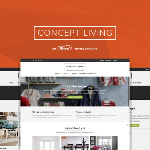 Concept Living - WordPress Furniture Theme