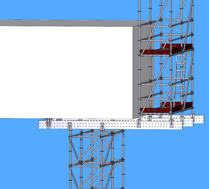 Cantilevered beam support