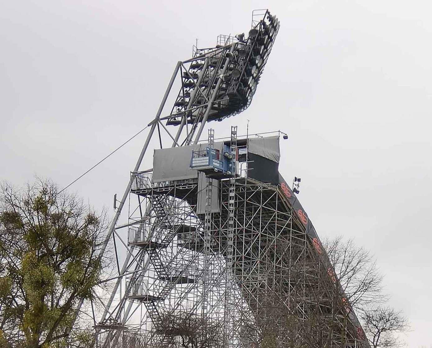 Sports event ramp access