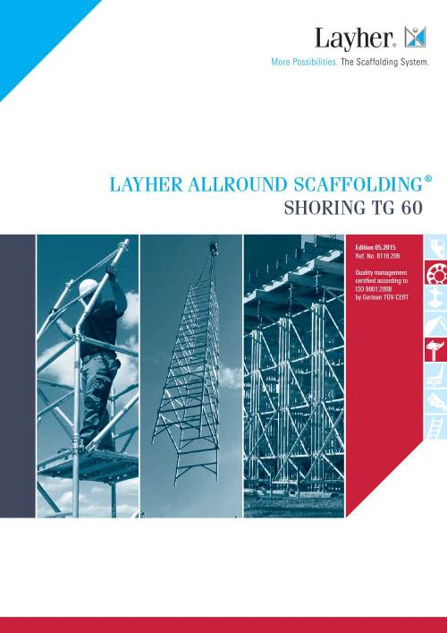 Layher Allround Scaffolding Shoring TG 60 System Brochure