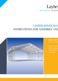 Layher Keder Roof XL Instructions for Assembly and Use