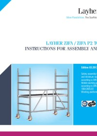 Layher Zifa Instructions for Assembly and Use