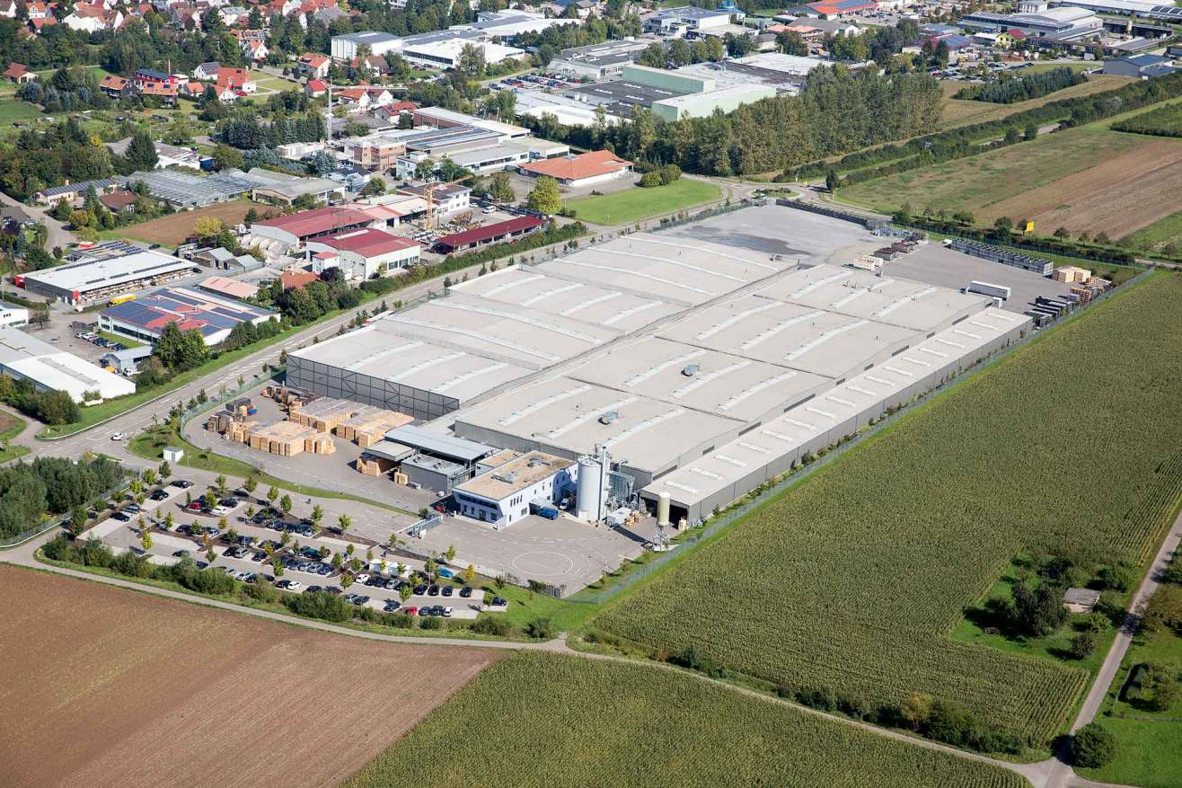Layher scaffolding manufacturing facility - Plant 2 next to the headquarters in Germany