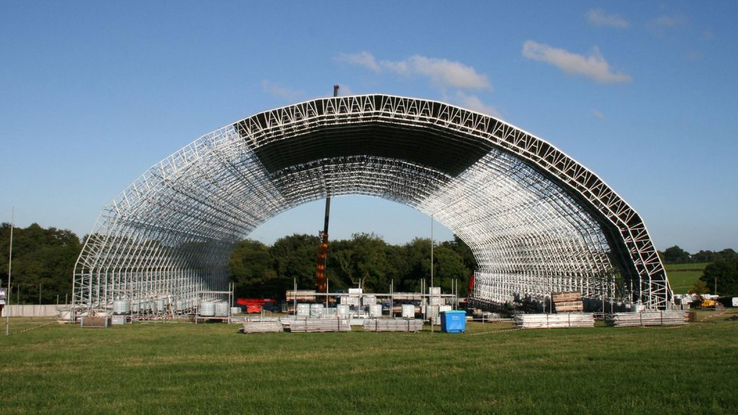 Arched and domed installations are possible