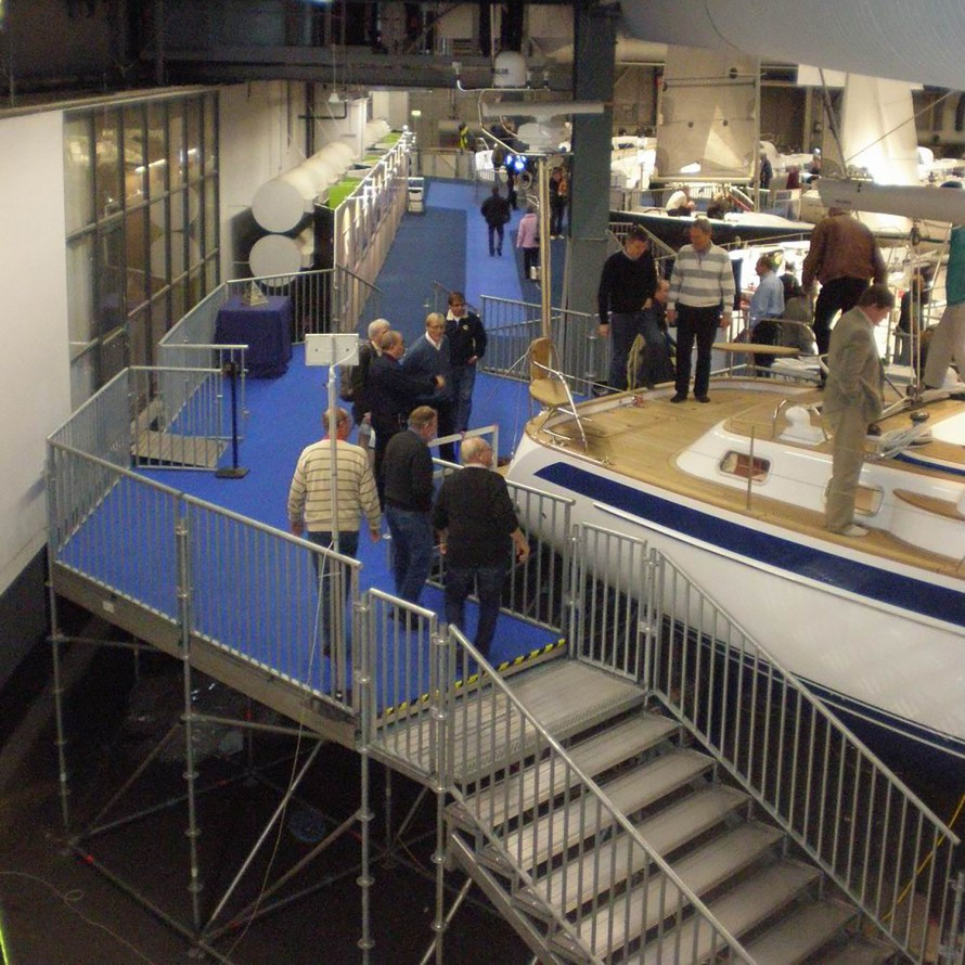 Layher Stair Solutions provide access to viewing platforms at boat show