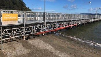 days bay wharf scaffolding