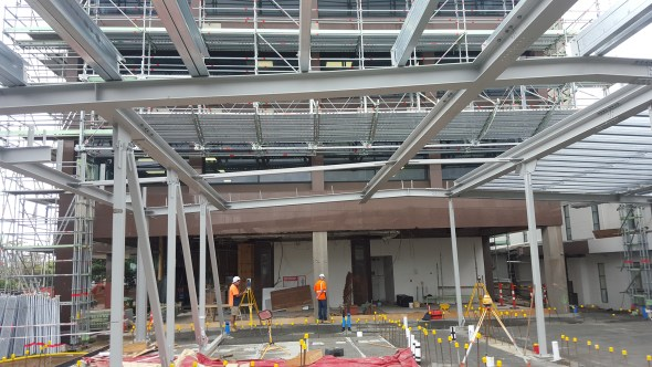 North Shore Scaffolding's innovative solution allows construction work to carry on