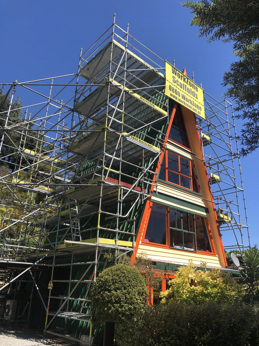 WorkZone Scaffolds used Layher Allround Lightweight Scaffolding on this house job