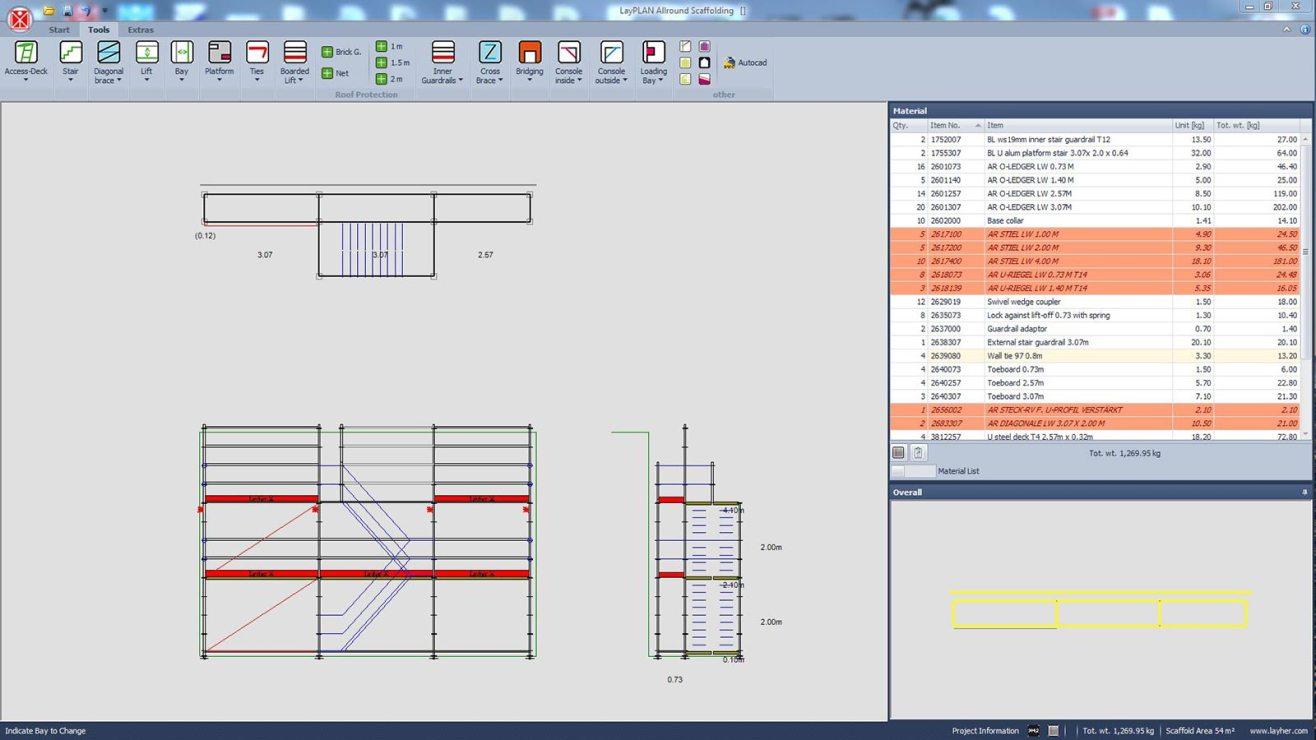 Layher LayPLAN scaffold design software