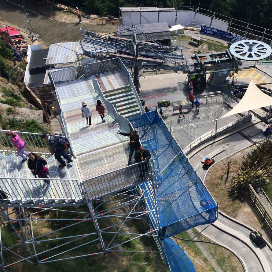 Brazier Scaffolding used Layher Allround Scaffolding to provide public access at iconic Queenstown tourist site