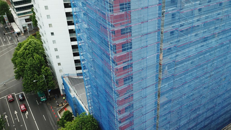 Scaffolding Queens Square by Upright Access Systems