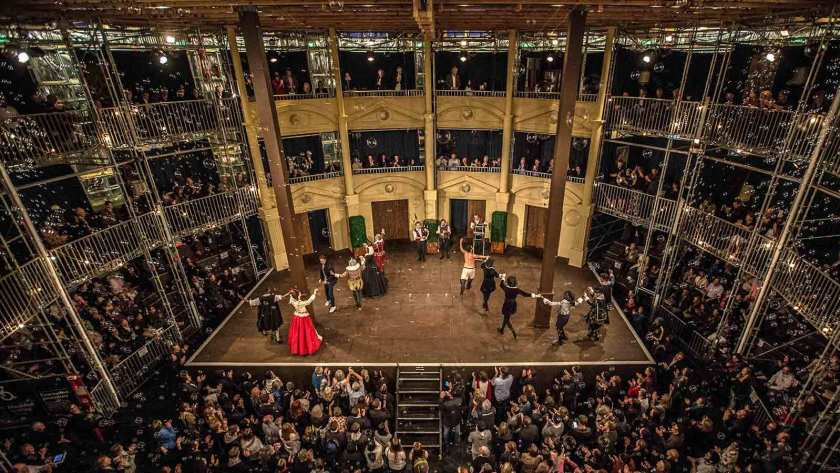 The Globe Theatre by Camelspace using Layher Event System