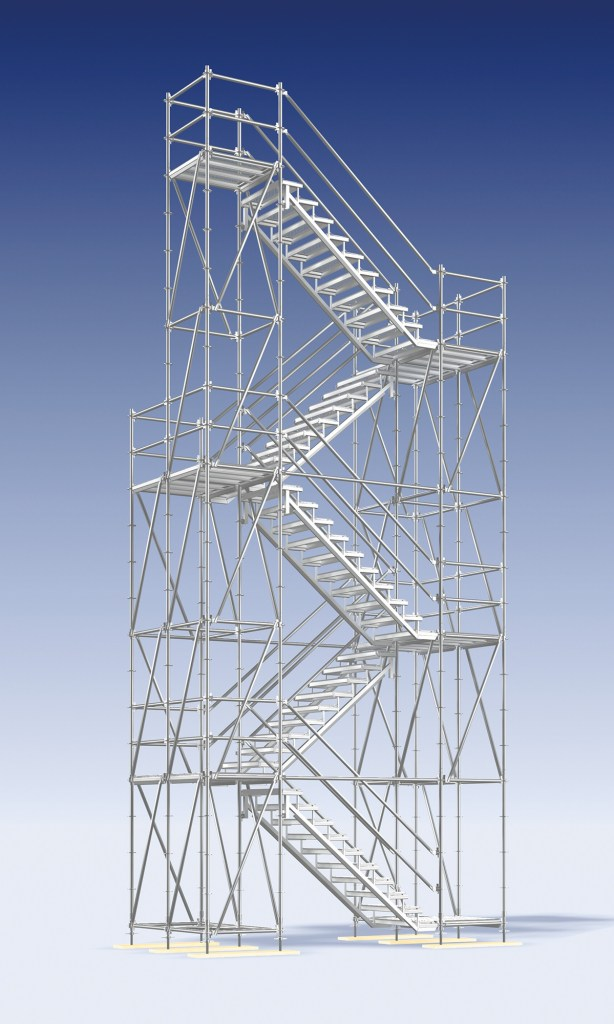 Layher Stairway Tower 200 - for light foot traffic