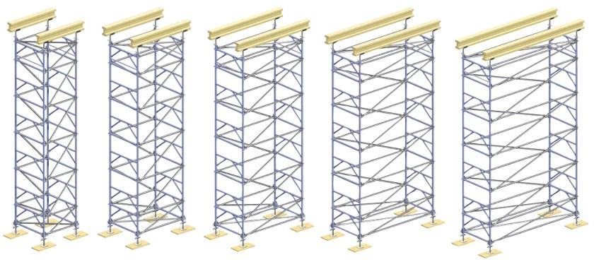 shoring scaffold configuration