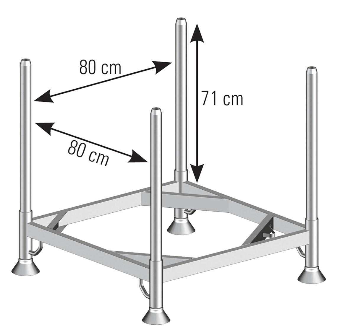 Scaffolding tube pallet