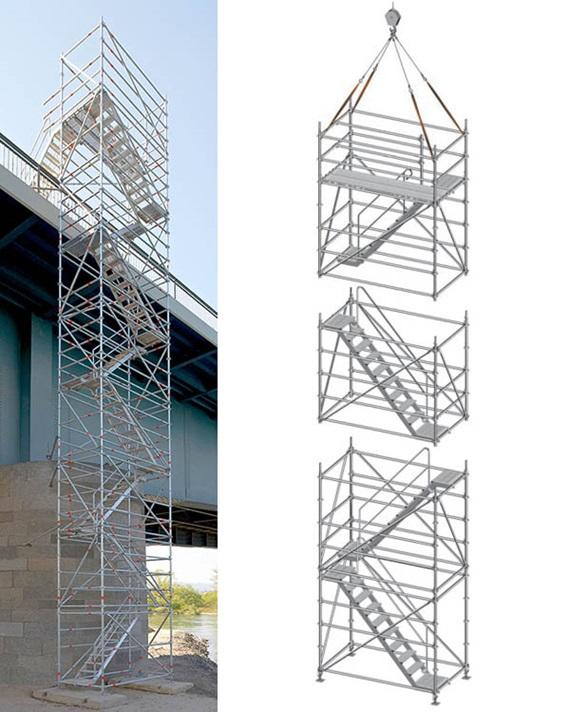 Torres de escalera con andamio Allround